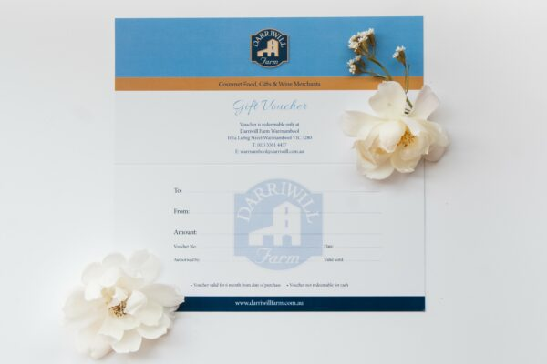 Darriwill Farm Warrnambool gift voucher